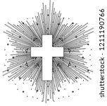 outline drawing of catholic... | Shutterstock .eps vector #1211190766