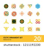 celtic ornament icon set.... | Shutterstock .eps vector #1211192230