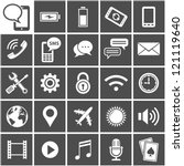 25 vector icons for mobile... | Shutterstock .eps vector #121119640