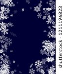 winter snowflakes border... | Shutterstock .eps vector #1211196823