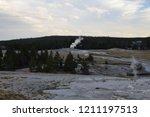 anemone geyser  upper geyser... | Shutterstock . vector #1211197513