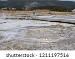 anemone geyser  upper geyser... | Shutterstock . vector #1211197516