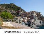 manarola   one of the cities of ... | Shutterstock . vector #121120414