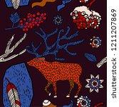 winter seamless pattern  forest ...   Shutterstock .eps vector #1211207869