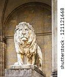 Famous Historic Lion Statue At...