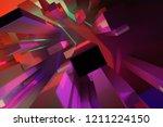 colorful lighting  block or... | Shutterstock . vector #1211224150