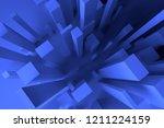colorful lighting  pillar block ... | Shutterstock . vector #1211224159