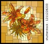 vector square angular mosaic of ... | Shutterstock .eps vector #1211228233