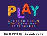 soft foam puzzle font  alphabet ... | Shutterstock .eps vector #1211239243