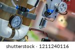 pressure measurement in... | Shutterstock . vector #1211240116