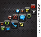 mobile interface icons abstract ... | Shutterstock .eps vector #121124848