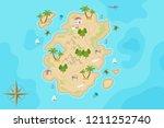 pirate fantasy cartoon island...   Shutterstock .eps vector #1211252740