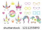 Stock photo create your own unicorn big collection unicorn constructor 1211255893