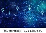 business network concept... | Shutterstock . vector #1211257660