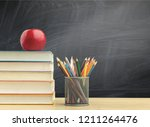 back to school background with... | Shutterstock . vector #1211264476