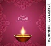 abstract beautiful happy diwali ...   Shutterstock .eps vector #1211265529