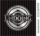 undoing silver shiny emblem   Shutterstock .eps vector #1211265769