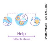 help concept icon. safe... | Shutterstock .eps vector #1211268589