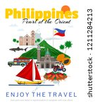 travel to philippines poster... | Shutterstock .eps vector #1211284213