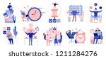 effective time management... | Shutterstock .eps vector #1211284276
