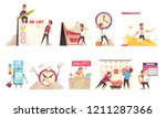 set of isolated cartoon... | Shutterstock .eps vector #1211287366