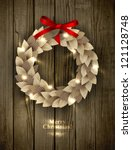 christmas wreath made of paper...