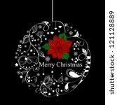 xmas greeting card with... | Shutterstock . vector #121128889