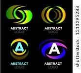 vector logo design elements set ... | Shutterstock .eps vector #1211295283