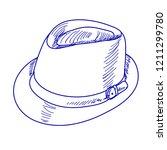 white background  blue sketch... | Shutterstock .eps vector #1211299780
