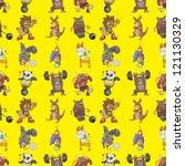 seamless animal sport pattern...   Shutterstock .eps vector #121130329