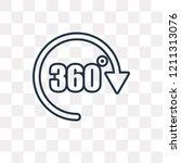 360 degree vector outline icon... | Shutterstock .eps vector #1211313076