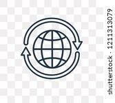 360 degree vector outline icon... | Shutterstock .eps vector #1211313079