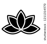 lotus blossom vector icon on... | Shutterstock .eps vector #1211314570