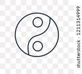 yin yang vector outline icon... | Shutterstock .eps vector #1211314999