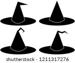 witch hat halloween icon set... | Shutterstock .eps vector #1211317276