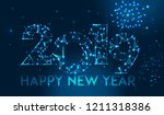happy new year 2019 banner... | Shutterstock .eps vector #1211318386