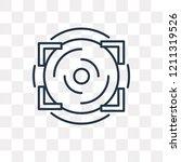 aim vector outline icon... | Shutterstock .eps vector #1211319526