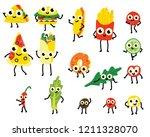 vector illustration set of fast ... | Shutterstock .eps vector #1211328070