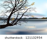 Illustration With Autumn Tree...