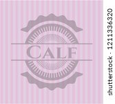 calf realistic pink emblem | Shutterstock .eps vector #1211336320
