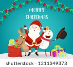 merry christmas letter and... | Shutterstock .eps vector #1211349373