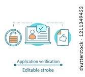 job application verification... | Shutterstock .eps vector #1211349433