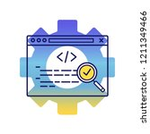seo audit color icon. search... | Shutterstock .eps vector #1211349466
