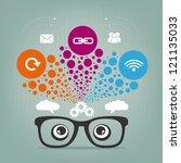 inspiring cloud computing...   Shutterstock .eps vector #121135033