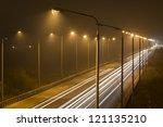 Night Time Shot Of Speeding...