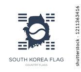 south korea flag icon. trendy... | Shutterstock .eps vector #1211363416