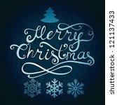 merry christmas lettering.... | Shutterstock . vector #121137433