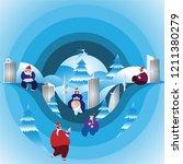 winter season with people... | Shutterstock .eps vector #1211380279