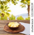 hot potato chips  grow napkin... | Shutterstock . vector #1211382139