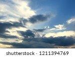 sunset and beautiful nature.... | Shutterstock . vector #1211394769